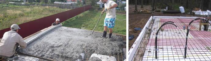 Заливка фундамента под сруб Подольский район