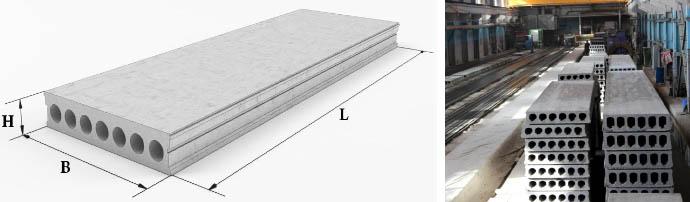 Технические параметры бетонных плит