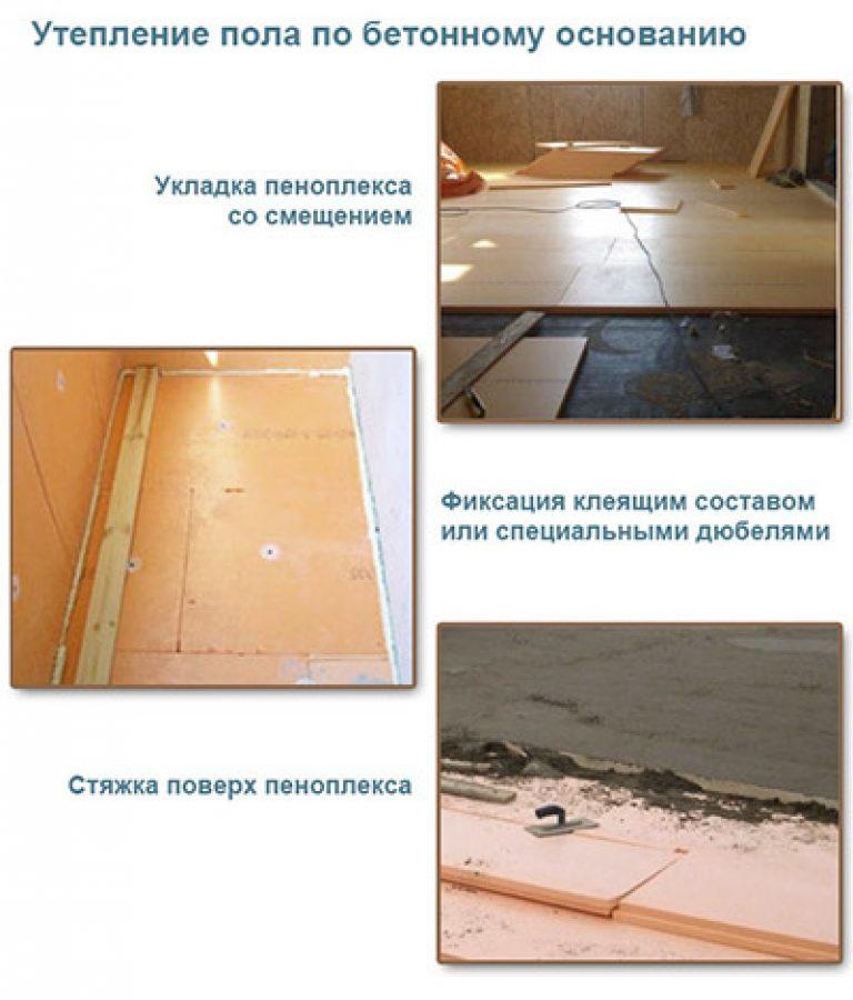 Утепление бетонный пол своими руками