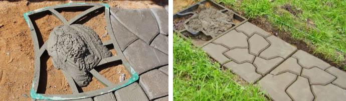 Дорожка из бетона для сада