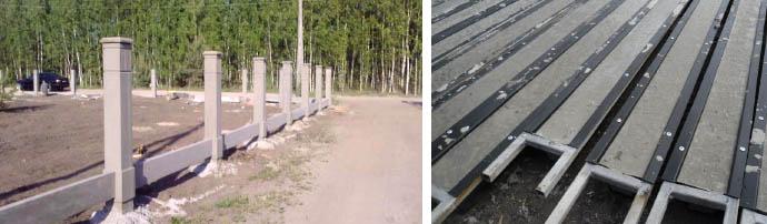 Монтаж бетонных ограждений