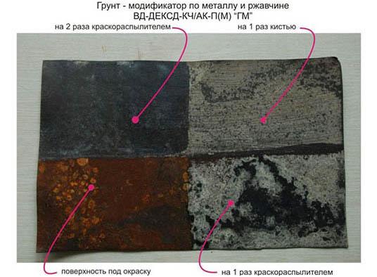 Нанесение грунта-модификатора