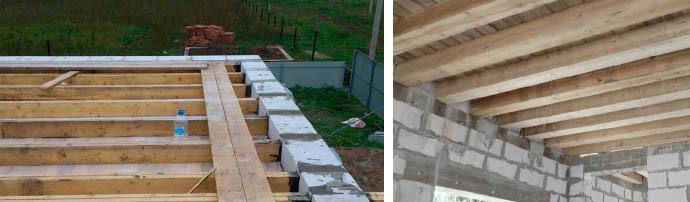Перекрытия из древесины для газоблока