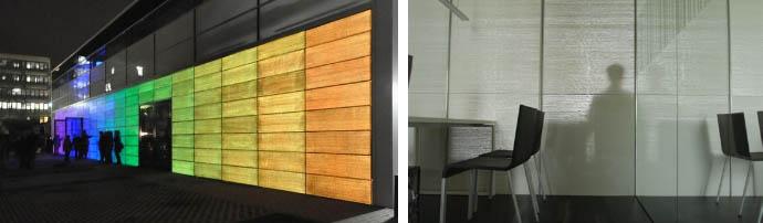 Применение светопрозрачного бетона