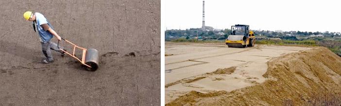Утрамбовать песок без виброплиты