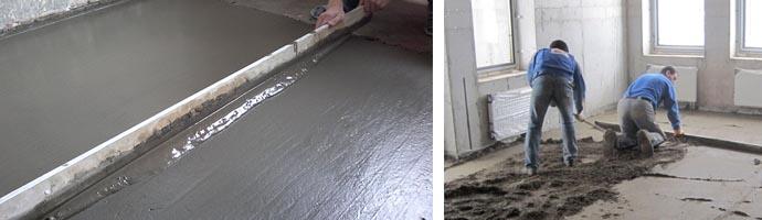 Стоимость бетонной стяжки