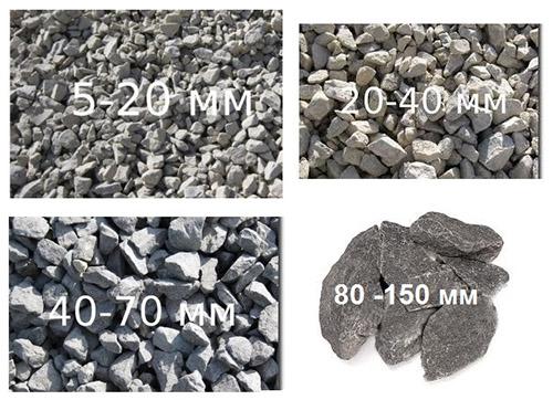 Фракции камня