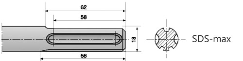 Хвостовики типа SDS MAX