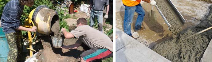 Расчет пропорций и правильный замес бетона своими руками