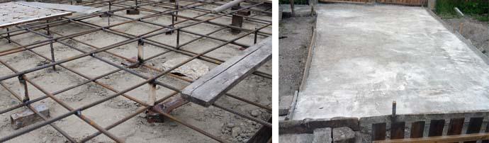 Обустройство бетонного основания для авто