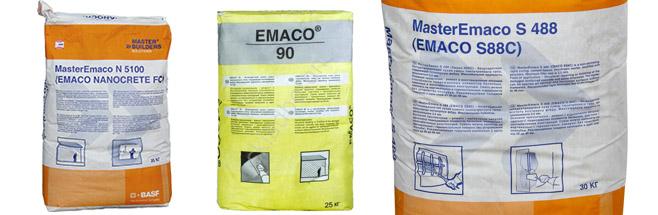 Продукция Emaco
