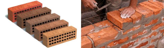 Размеры блоков одинарного типа