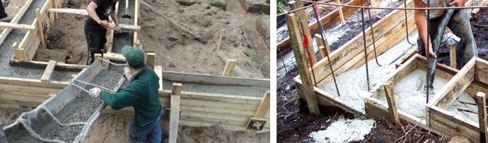 Расценки на заливку бетонных растворов
