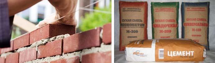 Цементный состав для кладки кирпича