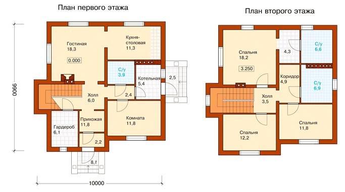 Частный дом 10х10
