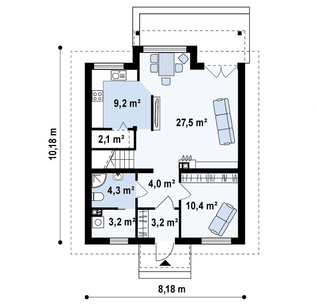 Второй этаж коттеджа
