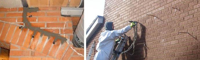 Инъецирование стен из кирпича
