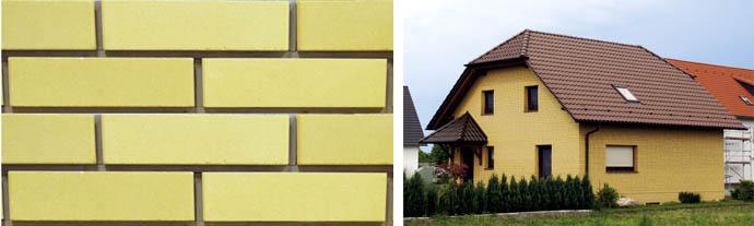 Кирпич желтого цвета