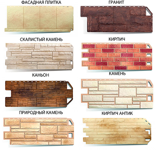 Разновидности панелей