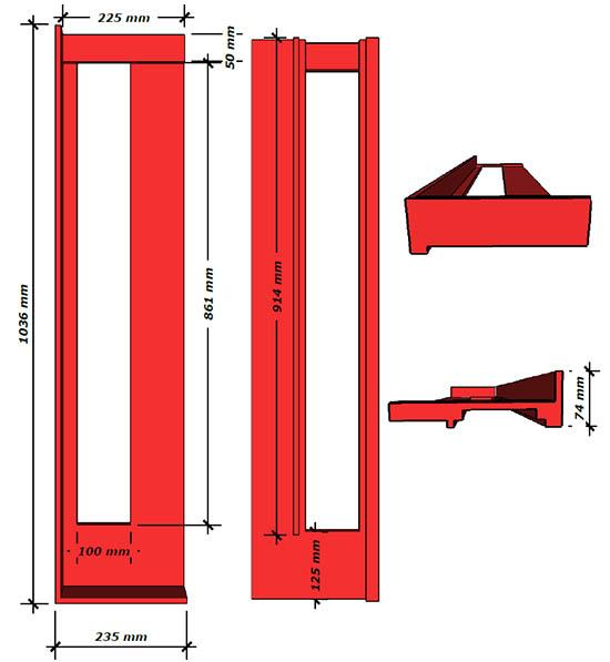 Схема шаблона для кладки