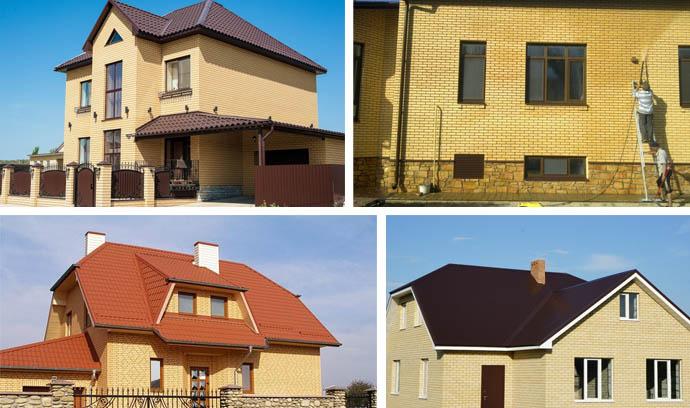 Фото домов с желтой облицовки