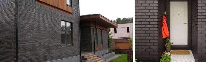 Черная обшивка фасада
