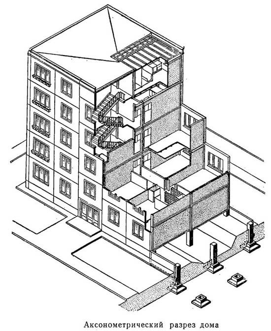 Чертеж панельной постройки