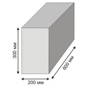 Блоки пенобетонные 600х300х200 мм различной плотности D