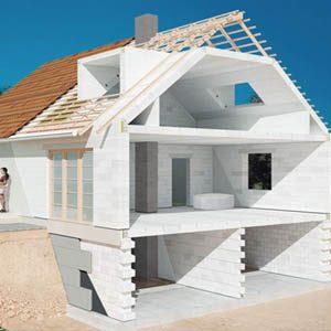 Обзор простых проектов домов из пенобетонных блоков
