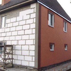 Наружная теплоизоляция дома из пенобетонных блоков