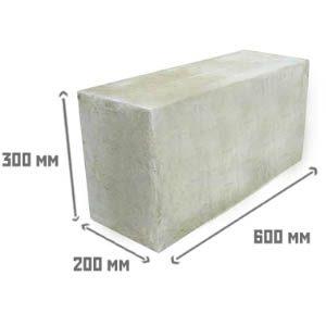 Стоимость блоков из пенобетона размером 20х30х60 см