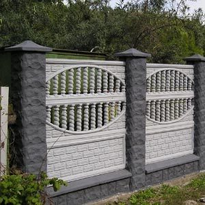 Секционные заборы из бетона