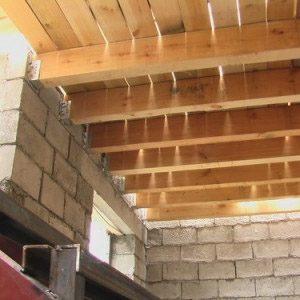 Перекрытия между этажами в частных домах из блоков