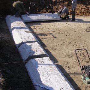 Фундаментные плиты и подушки