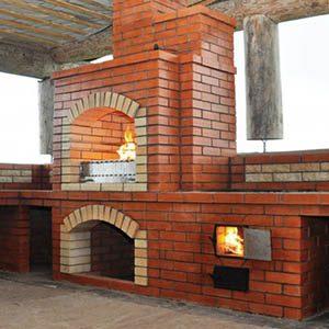 Как построить печь-барбекю из кирпичей? Фото и схема кладки