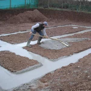 Работы по строительству фундамента