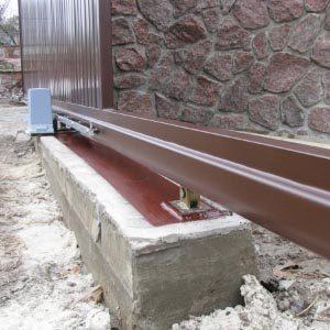 Как правильно залить фундамент под откатные ворота?
