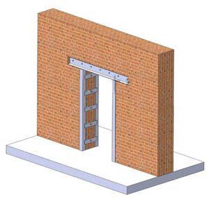 Как пробить и усилить проемы в стенах из кирпича?