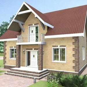 Обзор проектов двухэтажных домов из пенобетонных блоков