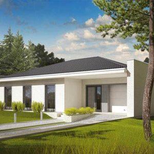 Обзор проектов одноэтажных коттеджей из пенобетона площадью 100-150 кв.м
