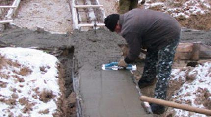 Стоимость выполнения работ по бетонированию
