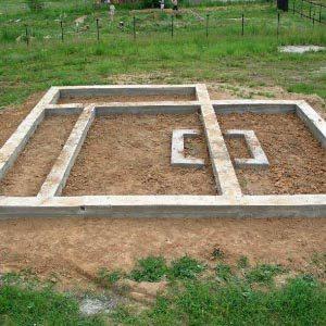 Как самостоятельно сделать фундамент для бани?