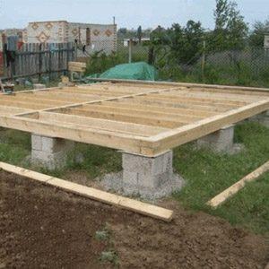 Как самому сделать фундамент из блоков размером 20х20х40 см
