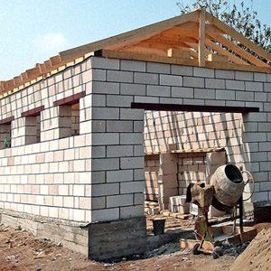 Сколько будет стоит построить гараж из пенобетона под ключ?
