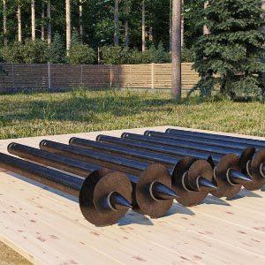 Стоимость строительства свайно-винтового фундамента