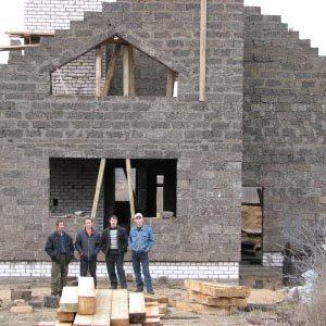 Самостоятельное строительство дома из арболитовых блоков
