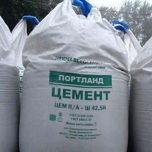 Цемент, упакованный в биг-беги