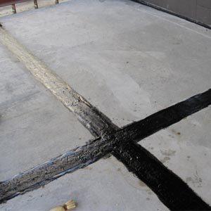 Температурный (деформационный) шов в бетоне
